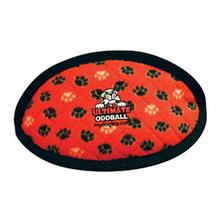 Tuffy Ultimate Oddball Dog Toy - Red Paws