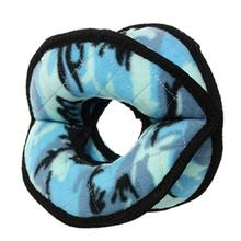 Tuffy Ultimate 4-Way Ring Dog Toy - Camo Blue