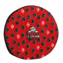 Tuffy Ultimate Flyer Dog Toy - Red Paw Prints