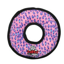 Tuffy Ultimate Ring Dog Toy - Pink Leopard