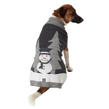 Tundra's Snowman Dog Sweater - Gray