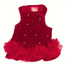 Velvet Twinkle Tutu Dog Dress by The Dog Squad - Red