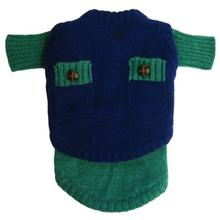 Two Face Wooly Dog Sweater - Green