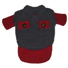 Two Face Wooly Dog Sweater - Red
