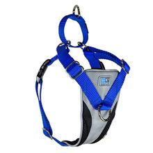 Ultimate Control Dog Harness by Canine Equipment - Grey and Royal Blue