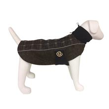 Ultra Paws Comfort Reflective Dog Coat - Brown Plaid