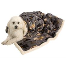 Ultra Paws My Blankie Likkers Pet Blanket - Gray and Cream