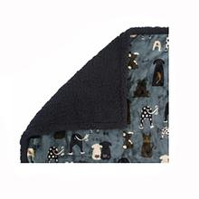 Ultra Paws My Blankie Waggers Pet Blanket - Blue and Black