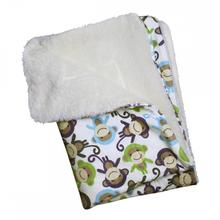 Ultra-Soft Minky Monkey Plush Dog Blanket by Klippo