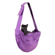 Ultrasuede Dog Cuddle Carrier by Susan Lanci - Amethyst