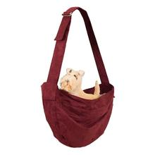 Ultrasuede Dog Cuddle Carrier by Susan Lanci - Burgundy