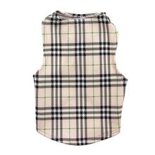 Under-Wrapper London Plaid Dog Tank by Daisy and Lucy