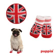 Union Jack Dog Socks by Puppia - Red