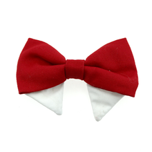 Dog Bow Tie Collar Attachment by Doggie Design - Solid Red