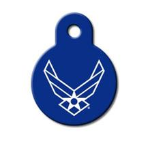 U.S. Air Force Engravable Pet I.D. Tag - Small Circle