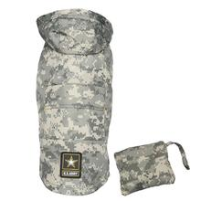 U.S. Army Packable Dog Raincoat - Camo