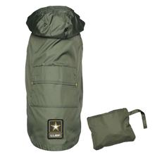 U.S. Army Packable Dog Raincoat - Green