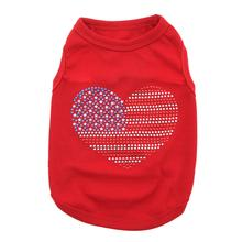 USA Dog T-Shirt by Parisian Pet - Red