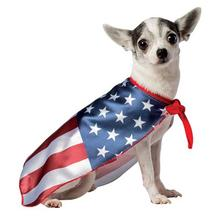 USA Flag Cape Dog Costume