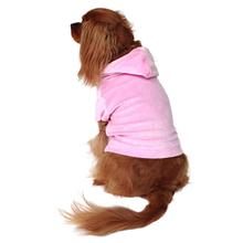 Velour Pullover Dog Hoodie - Light Pink