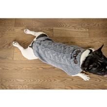 Verbier Cable Dog Sweater - Gray