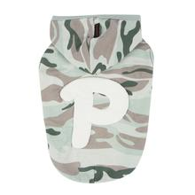 Veteran Hooded Dog Shirt by Puppia - Blueish Green Camo