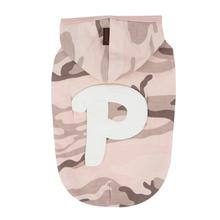Veteran Hooded Dog Shirt by Puppia - Pink Camo