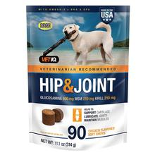 VetIQ Hip & Joint Support Supplement for Dogs - Chicken Flavor, 90 Soft Chews