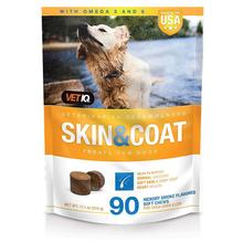 VetIQ Skin & Coat Support Supplement for Dogs - Hickory Smoke Flavor, 90 Soft Chews