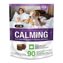 VetIQ Calming Aid Anxiety Supplement for Dogs - Hickory Smoke Flavor, 90 Soft Chews