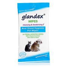 Vetnique Glandex Anal Gland Pet Wipes - 24 Count