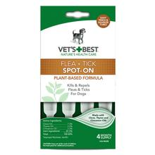 Vet's Best Flea + Tick Spot-On Dropper Dog Treatment