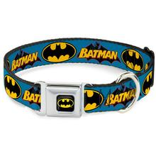 Vintage Batman Logo Seatbelt Buckle Dog Collar by Buckle-Down