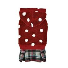 Viona Dog Hoodie with Skirt by Pinkaholic - Wine