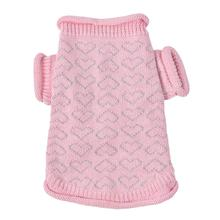 Heart to Heart Dog Sweater By Oscar Newman - Pink