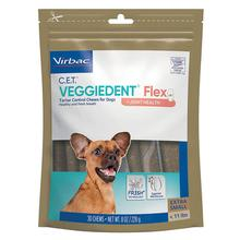 Virbac C.E.T. VeggieDent Flex Tartar Control Dog Chews with Joint Support