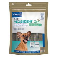 Virbac C.E.T. VeggieDent Zen Tartar Control Dog Chews with L-Theanine
