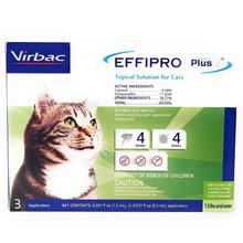 Virbac EFFIPRO PLUS Topical Solution for Cats - 3 Treatments