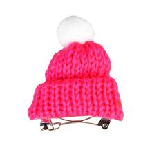 Vivi Winter Hat Dog Barrette By Pinkaholic - Pink
