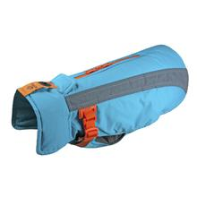 Vortex Parka Dog Coat - Teal and Orange