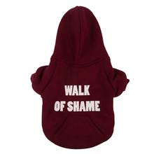 Walk of Shame Thermal Lined Dog Hoodie by fabdog® - Burgundy