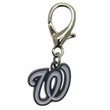 Washington Nationals Logo Dog Collar Charm
