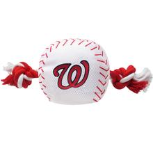Washington Nationals Nylon Plush Baseball Rope Dog Toy