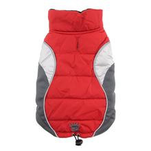 Wave Reflective Puffer Dog Vest By Hip Doggie - Red