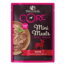 Wellness CORE Natural Grain Free Mini Meals Small Breed Pate Dog Food - Beef & Chicken