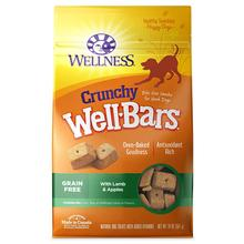 Wellness Grain-Free Wellbars Crunchy Dog Treats - Lamb & Apples