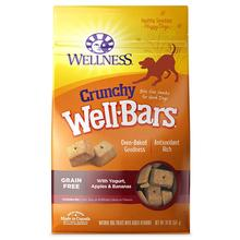 Wellness Grain-Free Wellbars Crunchy Dog Treats - Yogurt, Apples & Bananas