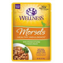 Wellness Healthy Indulgence Morsels Grain Free Wet Cat Food - Chicken & Turkey