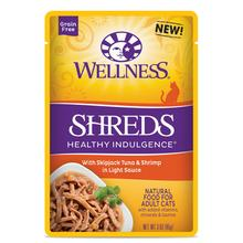 Wellness Healthy Indulgence Shreds Grain Free Wet Cat Food - Tuna & Shrimp