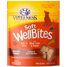 Wellness Natural Grain-Free Wellbites Soft Dog Treat - Turkey & Duck Recipe